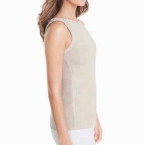 WHBM Sleeveless Metallic Pullover Sweater